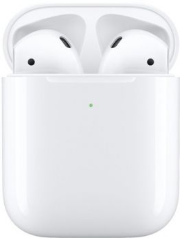 Apple AirPods with Wireless Charging Case (2nd Gen) - White